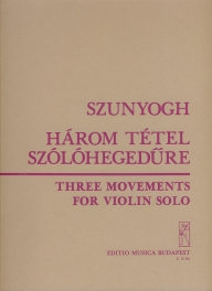 Three Movements for violin solo /12361/